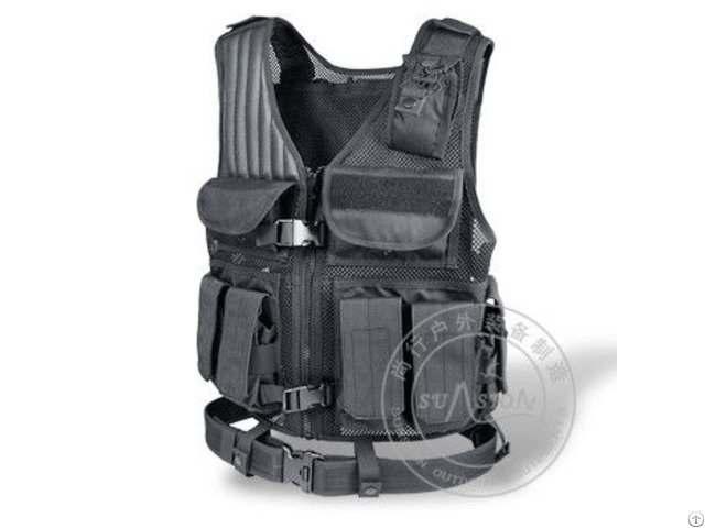 1000d Waterproof Nylon Tactical Vest With 6 Rifle Magazine Pouches