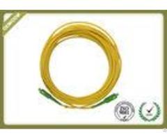 Os2 St To Sc Apc Fiber Optic Patch Cord Simplex Single Mode With Lszh Jacket