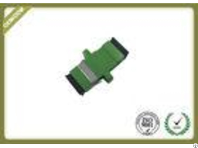 Green Color Sc Apc Plastic Fiber Optic Adapter Couplerwith Ceramic Sleeve