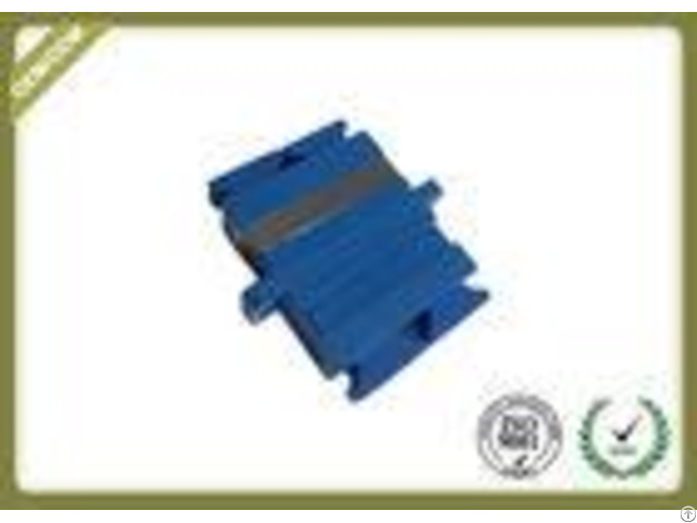 Sc Singlemode Duplex Fiber Optic Connector Adapters With Ceramic Sleeve Blue Color