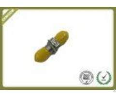 St Singlemode Simplex Metal Fiber Optic Adapter With Zirconia Sleeve Yellow Color