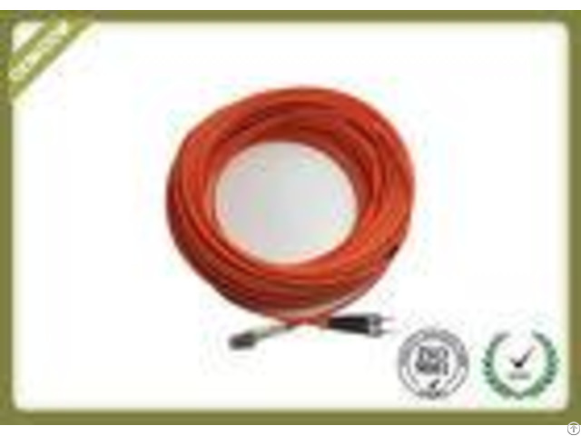 Long Meter Fiber Optic Patch Cord Lc St Duplex Multimode With Lszh Orange Jacket