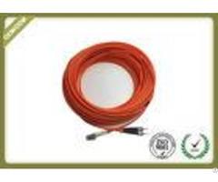 Long Meter Fiber Optic Patch Cord Lc St Duplex Multimode With Lszh Orange Jacket