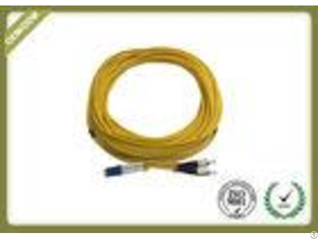 Lc Fc Duplex Single Mode Fibre Patch Leadsjumper With Pvc Jacket Low Insertion