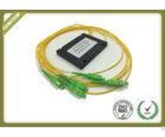 Single Mode 1x4 Plc Fiber Optic Splitter With Sc Apc For Fttx Solution Oem Odm
