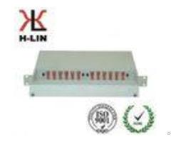 1u Metal Ftth Telecommunication Fiber Optic Distribution Box Frame Easy Operation