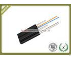 Outdoor Ftth Fiber Optic Drop Cable Single Mode With Pvc Or Lszh Jacket
