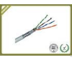 Shielded 24awg Cat5e Sftp Network Fiber Cable With Pure Copper High Frequency 250mhz