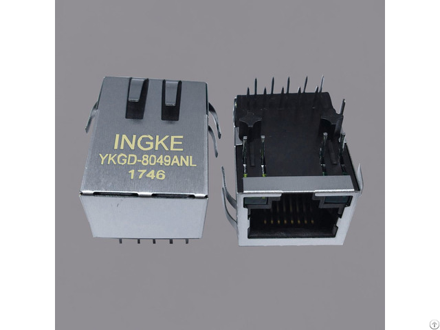 Ingke Ykgd 8049anl 100% Cross Jkm 0001nl Single Port Magnetics Rj45 Jacks