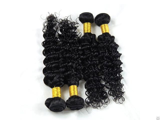 8a Brazilian Body Wave Human Virgin Hair Weave 3 Bundles With 360 Lace Frontal