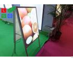Double Sided Led Poster Display A Shaped With Aluminium Frame Profile