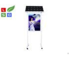 Free Standing Solar Powered Signs 1500 Lux Brightness Dual Sided For Outdoor Advertising