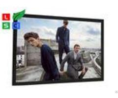 Black Aluminum Framed Led Snap Frame Light Box 40mm Front Width For Metro Station Display