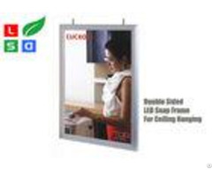 Double Sided Led Light Box Snap Frame A1 A2 Poster Size For Indoor Ceiling Hanging