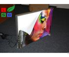 28mm Depth Thin Led Fabric Light Box On Off Switch For Art Show And Exhibition