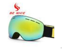 Frameless Interchangeable Lens Professional Mirrored Ski Goggles For Men And Women