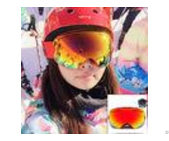 Anti Scratch Waterproof Snow Ski Goggles Double Lens Tpu Frame Ce Certificate