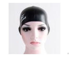 No Minimum Printing Silicone Swimming Caps For Colored Hair Not Easy To Damage