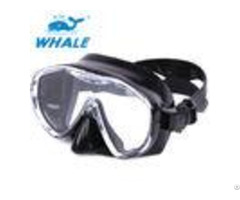 Waterproof Low Profile Tinted Snorkel Mask With Tube Large Viewing Area