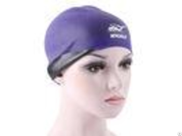 Breathe Freely Purple Swimming Hat Cute Women S Swim Caps For Long Hair