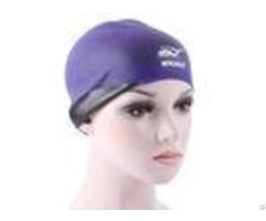 Breathe Freely Purple Swimming Hat Cute Women S Swim Caps For Long Hair
