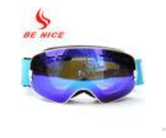 Anti Fog Blue Toddler Snow Goggles Custom Design Uv400 Protection Coating