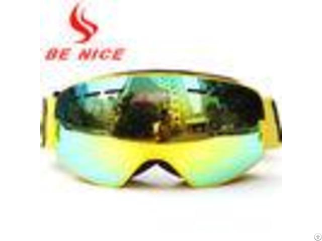 Helmet Compatible Kids Ski Goggles Premium Nylon Strap Scratches Resistance