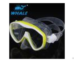Liquid Silicone Diving Mask Tempered Glass Lens With Ce Certificate