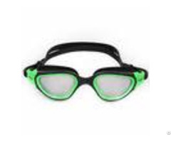 Silicone Adjustable Swimming Goggles With Polycarbonate High Impact Lens