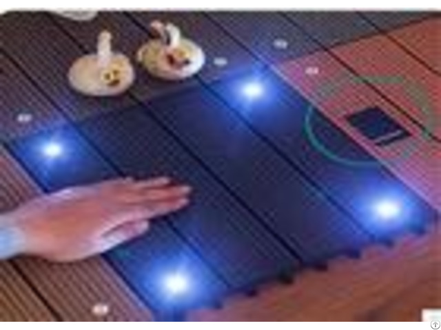 Wood Plastic Composite Diy Flooring Board With Colorful Light
