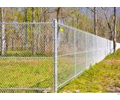 Multi Pvc Color Driveway Chain Link Fencing With Steel Iron Wire Materials