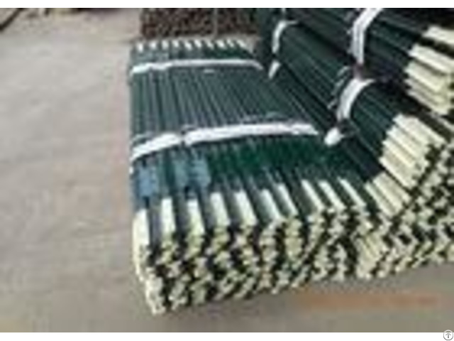 Heavy Duty Green Metal T Post Farm Fence Posts Bituminous Painted Surface