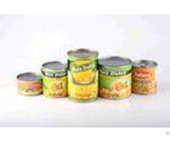 Fresh Raw Material Canned Sweet Corn Kernels Tin Packing Gmo Cultivation Type