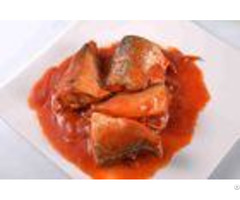Tin Packing Mackerel Canned Fish In Tomato Sauce Fda Haccp Certification