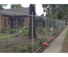 Builders Security Steel Temporary Fencing Mesh Panels For Domestic Housing Sites