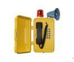 Ip67 Heavy Duty Industrial Broadcast Telephone With Beacon And Flashing Lamp