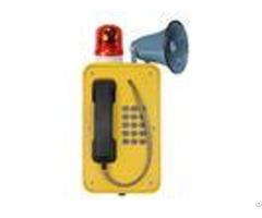 Industrial Broadcast Telephone For Emergency Weatherproof Sos Intercom With Horn