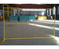 Yellow Canada Temporary Fencing Welded Steel Wire Mesh For Exhibitions