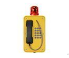 Tunnel Emergency Sip Telephone Poe Powered With Flashing Warning Light