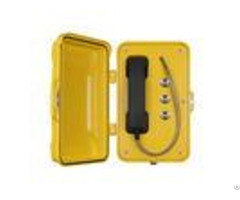 Moisture Resistant Outdoor Sip Phone Aluminum Alloy Material With Emergency Buttons