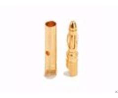 Amass Led Gold 2 0mm Male Banana Plug