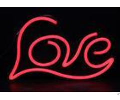 Beautiful Led Neon Signs Red Acrylic Pvc Flexible Jacket Material