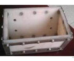 Abrasion Resistance Elevator Conveyor Buckets Plastic Uhmwpe Operate Quietly