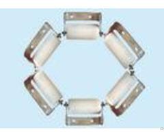 Self Lubrication Uhmw Pe Small Idler Rollers For Tubular Conveyor Ce Certificated