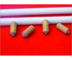 Low Noise Troughing Carrying Idler Roller White Color For Fertilizer Factory