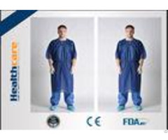 Waterproof Short Sleeve Disposable Patient Gown Pp Sms Smms Smmms Material