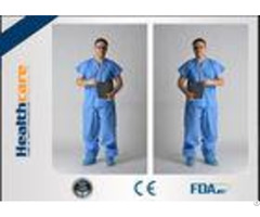 Blue Pp Sms Disposable Protective Gowns Scrub Suit Lightweight S 5xl Size