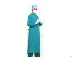 Dark Green Non Woven Surgical Gown Disposable Lab Gowns Lightweight Blood Proof
