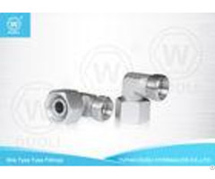 High Pressure 90 Degree Elbow Reducer Tube Adaptor With Swivel Nut Carbon Steel