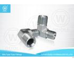 Carbon Steel Bite Type Hydraulic Hose Pipe Fittings Metric Thread 90 Degree Elbow